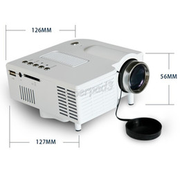 Wholesale Video Projects - 20pcs Free DHL Mini Entertainment HDMI Project UC28+ HD Home Theater Mini LED Projector Portable Multimedia Projector AV-in Video VGA Remote