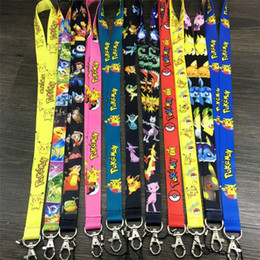 Wholesale Movies Figures - Popular Poke Key Chains String Cartoon Key Rings Lovely Phone Rope Chlidren's Gift Cotton Toys Elves Pattern