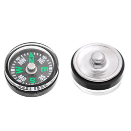 Wholesale Alloy Personalized Necklace - NOOSA Compass Custom 20mm Personalized aluminum snap button accessories Noosa button DIY Ginger Snap Jewelry fit noosa necklaces rings