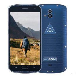 Wholesale Shockproof Waterproof Gps Phone - Original 5.5inch AGM X1 IP68 Waterproof Phone 6 64GB ROM 4GB RAM OctaCore OTG Double Rear Camera IP68 Fingerprint Smartphone Shockproof