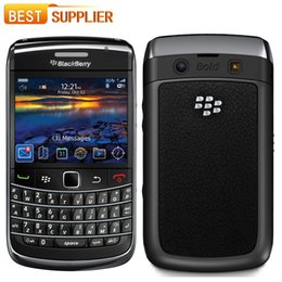 Wholesale Bold Accessories - 2016 Promotion Original Unlocked Blackberry 9700 Bold 9700 3G Mobile phone GPS WIFI Bluetooth refurbished phone free shipping