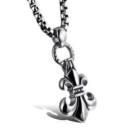 Wholesale Gothic Trend - The trend of hot rock punk gothic Pendant Necklace Pendant Jewelry men men titanium N969