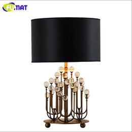 Wholesale Coral Black Bedding - Coral K9 Crystal Table Lamp Modern Living Room Bedside Lamp Luxury Decoration Project Light Hotel Office