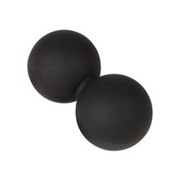 pelotas de goma para gimnasia Rebajas Pelota de Mascar Doble de Lacrosse Ball Peanut para la columna torácica - Parte superior de la espalda, cuello, escápula - Ideal para la movilidad