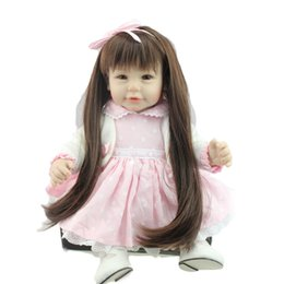 Wholesale Reborn Babies For Cheap - 2016 New Fashion DOll Toys 20inch Silicone Reborn Baby Girl Dolls For Sale 52CM Handmade Rapunzel Doll Luxury Cheap Kids Gift