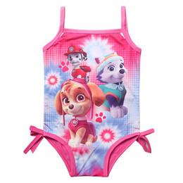 Deutschland Großhandels- Mädchen scherzt Badeanzug-Karikatur-Badeanzug-Druck-Kind-Badebekleidungs-Bikini Tankini Baby-Mädchen-Sommer-Schwimmen-Kostüm CU934913 cheap wholesale children bikini Versorgung