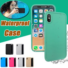 Wholesale Iphone 5s Gel Cover - Waterproof Case Water Resistant Underwater Diving 100% Sealed Full Cover Case Soft TPU Gel For iPhone X 8 7 Plus 6 6S SE 5S 5 Samsung S7