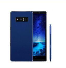 Wholesale Blue Camera - ERQIYU Goophone note8 Note 8 Edge 6.2inch smartphones fingerprint Android 7.0 dual sim shown 64G ROM 4G LTE black cell phones