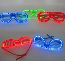 Wholesale Cheer Earrings - CCX Light Up Toy Luminous glasses Hot flash toys Concert bar gathering cheer props Rave Toy