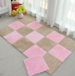 Wholesale hand spliced - DIY magic Jigsaw 30*30CM living room bedroom children kids soft patchwork carpet Splice slip-resistant puzzle climbing baby mat