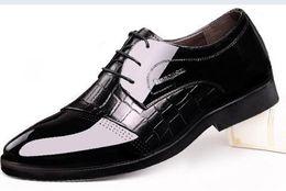 Wholesale Korean Summer Shoes Men - Men's leather shoes leather shoes breathable pointed British summer business increased in men's dress lace Korean