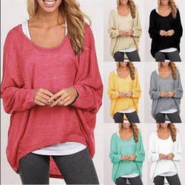 Wholesale Plus Size Sweater Poncho - Plus Size Autumn Fall Women Irregular Baggy Knitting Sweater Casual Loose Pullover Jumper Top Hi-Low Batwing Long Sleeve Poncho hight qualit