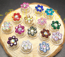 Wholesale Women S Hair Accessories Wholesale - Wholesale-10pcs Rhinestone Flower Swirl Spiral Wedding Twist Coils Hair Spin Pins Women Hair Jewelry Accessories bijoux cheveux (10mm) S-5