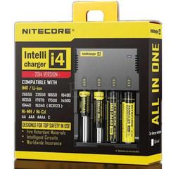 balance numérique chargeur rc Promotion Top qualité Nitecore I4 Digicharger LCD Chargeur de Batterie Universel Nitecore Charger + Retail Package Charge Câble livraison gratuite DHL