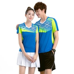Wholesale Table Tennis Shirts Women - Wholesale-New Quick Dry T-shirt Badminton For Men and Women Table Tennis Short Sleeve Polo Shirt Tennis Jersey