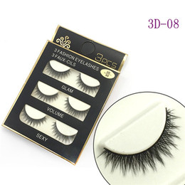 Wholesale Soft Stock - In Stock ! 3D Mink Hair False eyelashes 16 Styles Handmade Beauty Thick Long Soft Mink lashes Fake Eye Lashes Eyelash Sexy High Quality