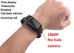 Wholesale Spy Smart - New 1920*1080P Non-perforated camera bracelet Covert Camera Smart WristBand spy camera Mini Video Recorder DVR Cam Time display Pedometer