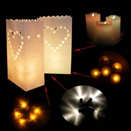Wholesale Sky Lanterns For Wedding Decorations - Paper Lantern lamp Candle Bag Christmas Party Home Outdoor marriage Decoration Tea Light For Party Home Outdoor Wedding Boda Decoration