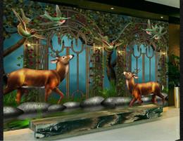 Argentina papel pintado fotográfico para paredes estilo pastoral europeo bosque de fantasía fondo de pared de hadas europa fondo de pantalla cheap europe style wallpaper Suministro