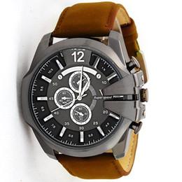 2019 relógios de couro v6 V6 multifuncional cinto de couro relógio de quartzo relogio marca de luxo relógio grande mostrador esportivo assistir para homens relógios de couro v6 barato