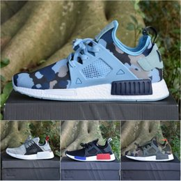 Wholesale Cream Color Boots - Adidas Originals NMD_XR1 PK Boost 3.0 W BB2368 Primek Duck Camo Running Shoes Wholesale Camouflage Color Men Women Boots Sneakers With Box