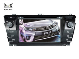 Wholesale Gps Navigation Systems For Toyota - 4 UI intereface combined in ONE system CAR DVD PLAYER FOR Toyota COROLLA 2014 2015 BLUETOOTH GPS radio navigation free map SWC