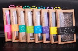 Wholesale Iphone Tray Holder - 200pcs Colorful Universal Package PVC Plastic Retail Packaging Kraft Paper Box for iphone 6 plus case Note 5 Inner Trays holder