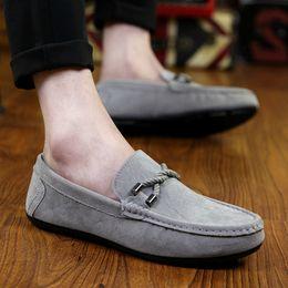 2019 guida auto scarpa Vendita calda nuove scarpe da barca di moda da uomo Comfort nappa fodera Slip On Mens Driving Car Shoes sconti guida auto scarpa