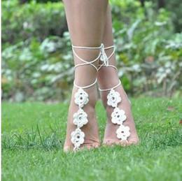Wholesale Crochet Sandals For Women - Boho Jewelry barefoot crochet sandals cut out crochet toe ring barefoot sandals beach pool sandals charms for bracelets
