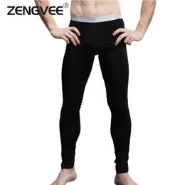 Wholesale Thin Onesies - Wholesale-2016 New Arrival Men's Long Johns Modal and Spandex Thin Thermal Underwear Pants-Free Shipping