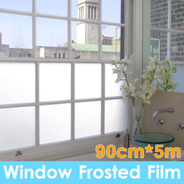 Wholesale Window Privacy Film - 90cm*5m Sand Blast Clear Privacy Frosted Frosting Windows Glass Film Removable