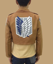 Wholesale Cosplay Anime Attack Titan - cosplay Winter Attack on Titan Mikasa Alan jacket investigation Corps hedging plus velvet sweater Wings of Liberty costume cos sweatshirts