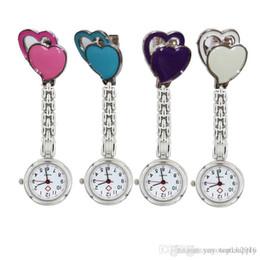 Wholesale Nurses Watches New Design - Fashion 2017 Sweet Heart metal nurse quartz watch doctor medical pocket watch Unisex Design Nurse Watches