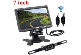 "Wholesale Wireless Parking Camera Reverse - 7"" TFT LCD Car Rear View Backup Monitor + Wireless Parking Night Vision Car Reverse Rear View Camera Kit"