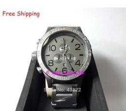 Wholesale Digital Matte Box - Free Shipping NX Men's A083-1062 Quartz Watches THE 51-30 CHRONO Matte Black + Matte Gunmetal CHRONOGRAPH Original Box A0831062