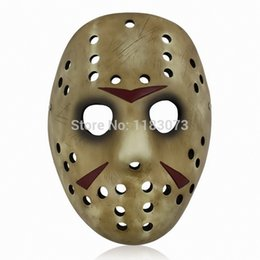 Wholesale Jason Voorhees Face - High Quality Resin Classic movie theme Jason Voorhees Mask for Collectible Gift Halloween Party Strong Packing Free Shipping