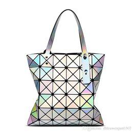 Wholesale Large Clear Handbags - 2017 Women BaoBao Bags Folding Fashion Handbags Bao Bao Fashion Casual Women Tote Top Handle Bags High Quality
