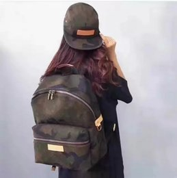 Wholesale Fashion Golf Bags - 17SS Sup Backpack Shoulder Justin Bieber Bag Fashion Couple School Bags Camouflage Sport High Street HFBB027