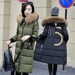 Wholesale Ladies Down Coats Hoods - 6xl 5xl Women Down Jacket Hood Fur Plus Size Clothing Winter Parkas White Duck Down Coat Real Raccoon Fur Warm Outwear 2016 Hot for ladies