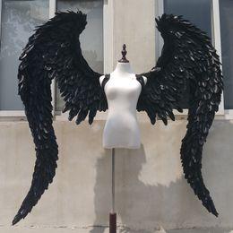 Affichage des étapes en Ligne-NOUVEAU Personnalisé Black Devil ange ailes Cosplay tir affichage accessoires scène Bar décoration Accessoires de mode EMS Livraison gratuite