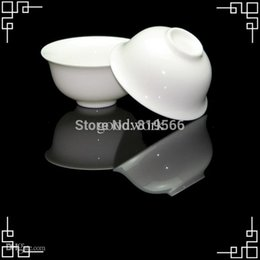 Wholesale Chinese Porcelain Tea Cups Wholesale - Wholesale-Pure White Ceramic Tea Cup Fine Bone China Kung Fu Tea Set Service Chinese Porcelain Drinkware