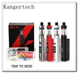 Wholesale Kanger Vapor Tanks - Kanger Topbox Mini 75W TC Kit Starter Kit Kangertech KBOX Mini Box Mod Toptank pro 3.5ml Top filling Tank Vapor mods