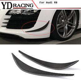 Wholesale Spoiler Audi - Carbon fiber racing front bumper Modelling trim decoration sticker fins spoiler car-style for Audi R8 V8 V10 2008-2015