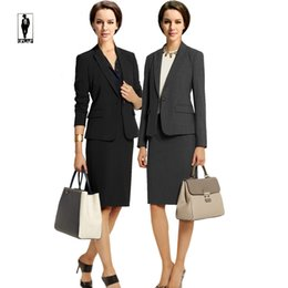 Wholesale Women Suit Designers - UR 10 Fashion Spring Elegant Handmade Designer Professional Bussiness Suits Female Skirt Suits Office Uniform Lady Blazer Set Custom Made