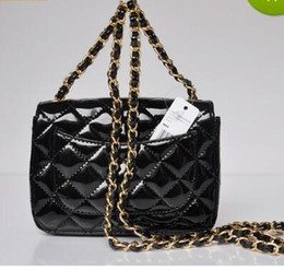 Wholesale Mini Star Bows - 1115 Patent leather WOC Bag High quality New arrival Quilted Chain Lambskin Single Flap Bag Women's Mini Cluth Bag