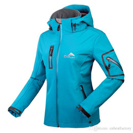 Wholesale Clots Woman - 2016 Winter Spring Water Resistant Windstopper Hoodies Fleece Outdoor Sport Softshell Jacket Women Camping Hiking Climbing Women's Clot