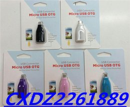Wholesale Data Cable Mouse - with package micro OTG KIT 5color chioce For Samsung Smartphone Tablet PC Connect To U disk camera Mouse  eyboard free shipping
