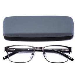 Wholesale gun frame - Reading Glasses Readers Metal Deluxe Rectangular gun Frame Business occasion Men