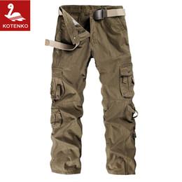 Wholesale Mens Camouflage Combat Trousers - Wholesale-Mens Multi-pocket Casual Cotton Long Military Pants Male Men Work Cargo Overalls Khaki Combat Camouflage Pants Straight Trousers