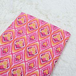 Wholesale Dress Scissors - 1 meter cotton plain VB fabric with pink mickey floral print, handmade DIY garment dress cloth CR-834